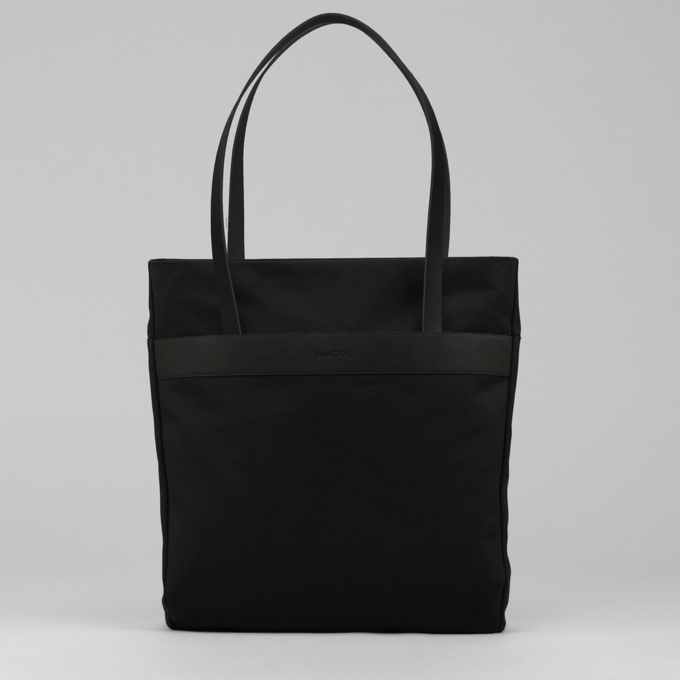 433_Shopper Bag-Canvas-Leather-handmade