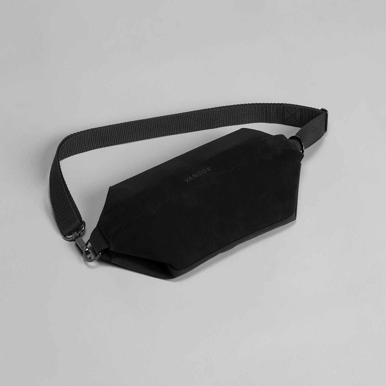 535_Shoulder Bag-Sling Bag-Waist Bag-Belly BagLeather-Coated Cotton