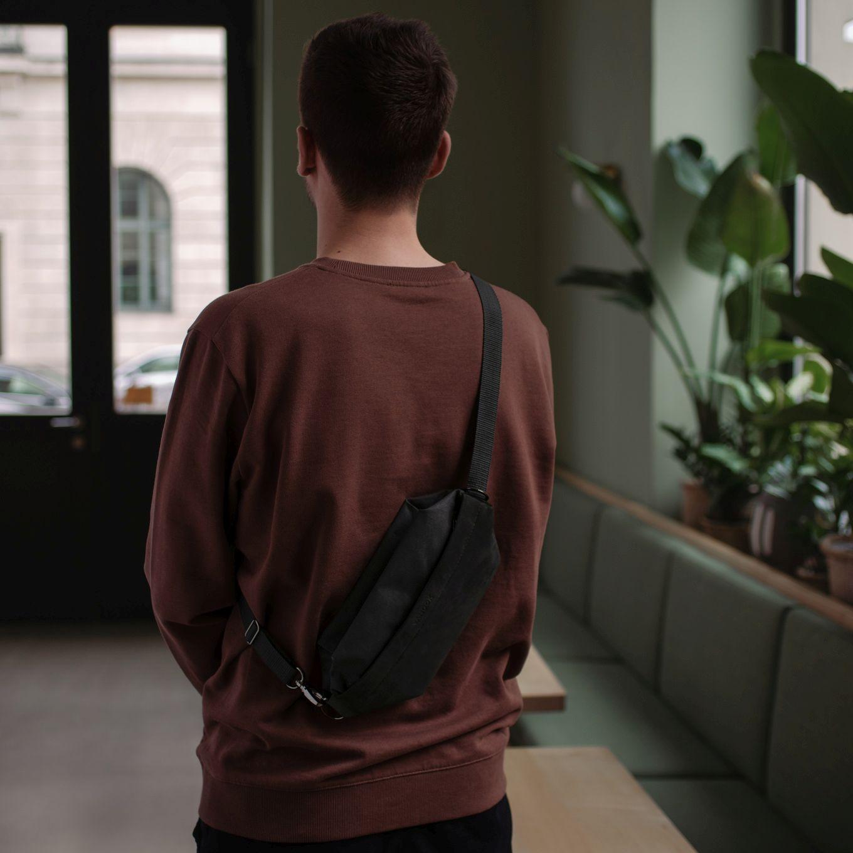 537_Shoulder Bag-Sling Bag-Waist Bag-Belly BagLeather-Coated Cotton